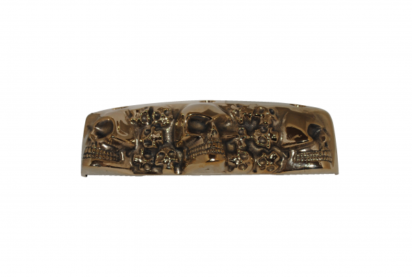 brass skull rocker box cover