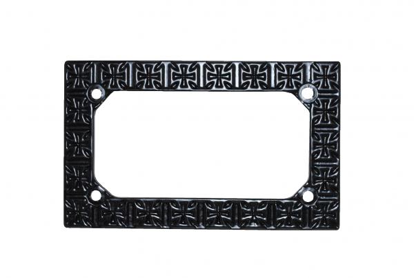 crosses license plate frame
