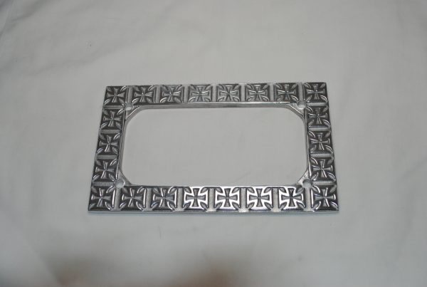cross license plate frame